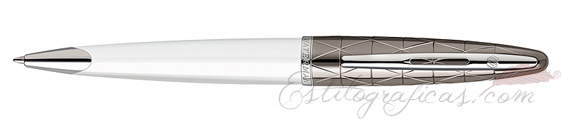 Bolígrafos Waterman Carene Contemporary Blanco y Metal