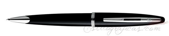 Bolígrafos Waterman Carene Mar Negro ST (Silver Trim)