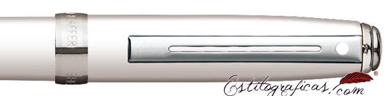 Detalle del bolígrafo Prelude Mini Blanco Glossy