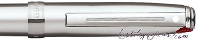 Detalle del bolígrafo Prelude Mini Cromo Cepillado