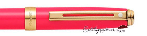 Detalle del bolígrafo Prelude Mini Rosa y Oro