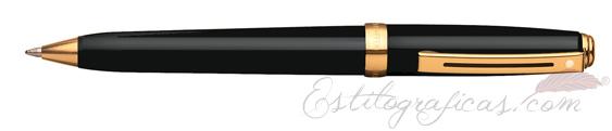 Bolígrafos Sheaffer Prelude Laca Negra Brillante 355-2