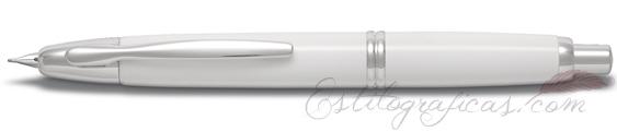 Estilográfica Pilot Capless Blanco y Rodio Mod. FC-1500RRR-W-F