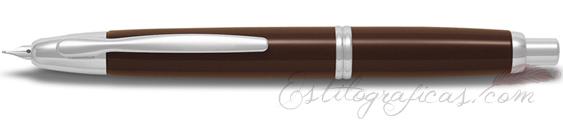Estilográfica Pilot Capless Marrón Chocolate y Rodio Mod. FC-1500RR-BN-F