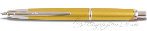 Estilográfica Pilot Capless Décimo Amarillo Oro Mod. FCT-1500RR-YG-F