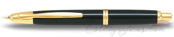 Estilográfica Pilot Capless Negro y Oro Mod. FC-1500RG-F-L