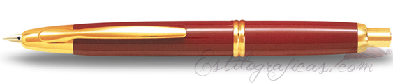 Estilográfica Pilot Capless Rojo y Oro Mod. FC-1500RG-F-R