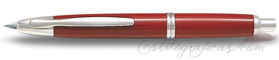 Estilográfica Pilot Capless Rojo y Rodio Mod. FC-1500RR-F-R