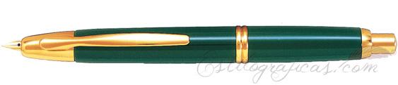 Estilográfica Pilot Capless Verde y Oro Mod. FC-1500RG-F-G