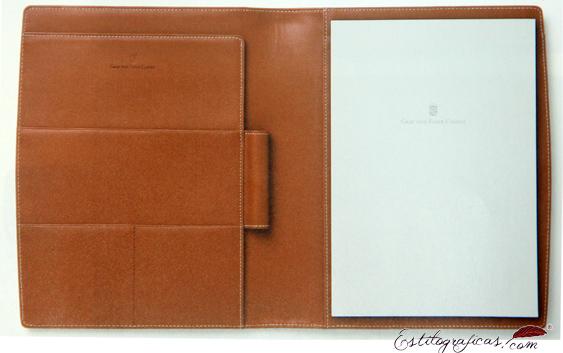 Carpeta de conferencias y reuniones de piel Graf Von Faber-Castell