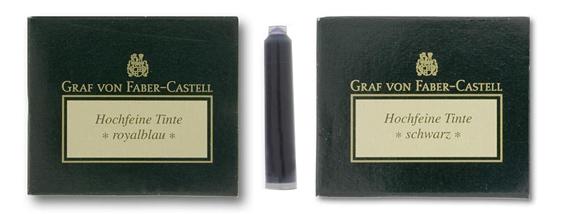 Cartuchos de Tinta Graf von Faber-Castell Azul y Negro