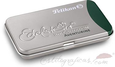 Cartuchos Pelikan aventurine para classic con tinta Edelstein 339671