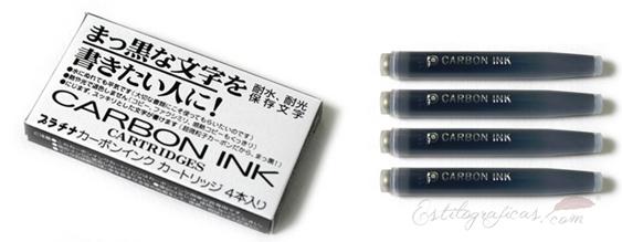 Cartuchos Platinum de tinta pigmentada negra Carbon Black spc-200#1-N