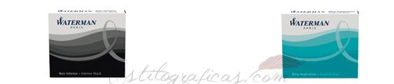 Cartuchos de tinta internacional para estilográficas Waterman