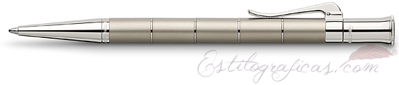Bolígrafo Graf von Faber-Castell Clásica Anello Titanio