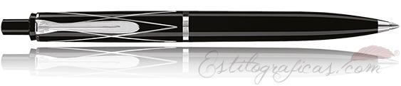 Bolígrafo Classic K215 Negro y Plata con Rombos