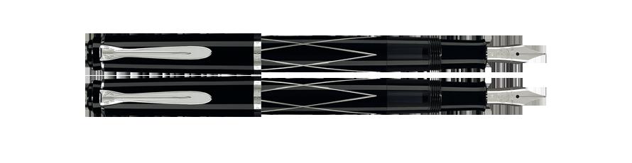 Estilográfica Pelikan Classic M 215 Negro con Rombos