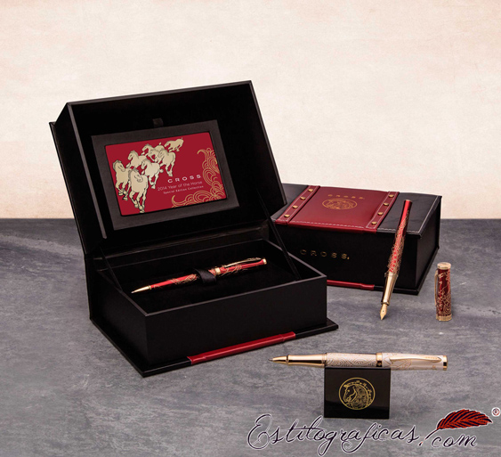 Estuche y expositor del Rollerball Cross Sauvage year of the horse