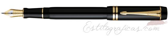 Pluma Estilográfica Parker Duofold Black GT Centenial S0690330
