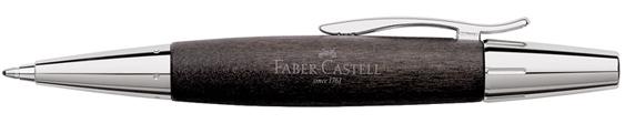Bolígrafo Faber-Castell E-Motion Madera de Peral Negro 148383