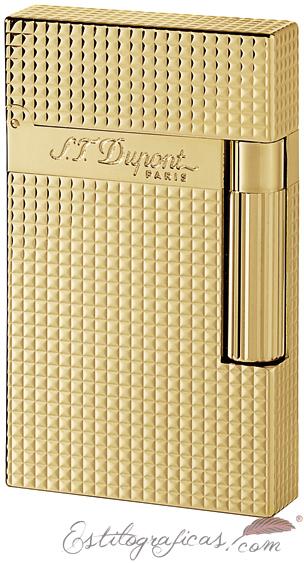 Mechero encendedor ST Dupont Ligne-2 dorado de punta de diamante 016284