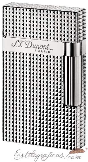 Encendedor ST Dupont Ligne-2 con diseño de punta de diamante 016184