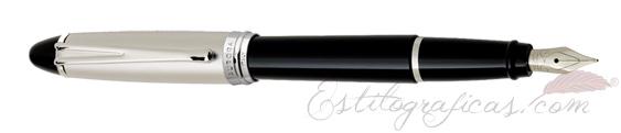 Pluma Estilográfica Aurora Ipsilon Metal resina negra y cromo B11-C