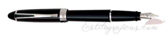 Pluma Estilográfica Aurora Ipsilon De Luxe Negra y CromoB12-C