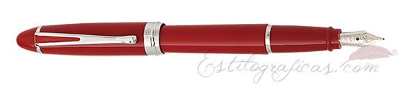 Pluma Estilográfica Aurora Ipsilon De Luxe roja B12-CR