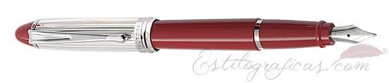 Pluma Estilográfica Aurora Ipsilon Rojo y Plata B14-CR