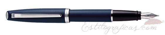Pluma Estilográfica Aurora Style resina mate azul y cromo E20-B