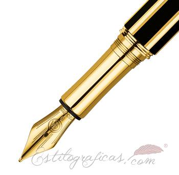 Plumín de las plumas estilográficas Caran d'Ache Varius Chinablack Gold