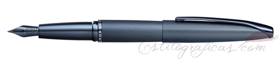 Pluma Estilográfica Cross ATX Azul Oscuro Arenado 886-45FJ