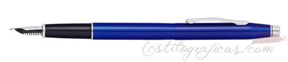 Estilográfica Cross Classic Century Laca Azul Translúcida AT0086-112
