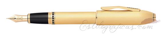 Pluma Estilográfica Cross Peerless 125 Oro Laminado AT0706-4