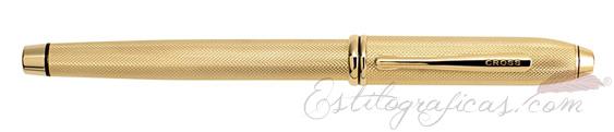 Pluma estilográfica Cross Townsend 20 aniversario oro cerrada AT0046B-32