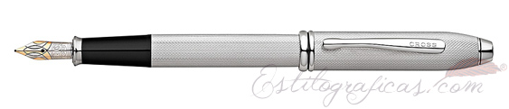 Pluma estilográfica Cross Townsend 20th anniversary platino AT0042B-29