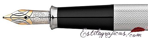 Plumín bicolor de pluma estilográfica Cross Townsend 20 aniversario platino