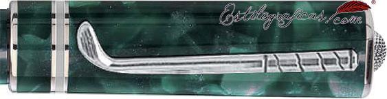 Detalle de clip y copa de la pluma estilográfica Delta Golf