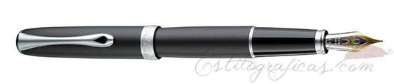Estilográfica Diplomat Excellence A2 Lapis Black Matt 14 K D40204013