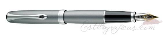Pluma Estilográfica Diplomat Excellence A2 Venezia Platin Matt Chrome 14 K D40206013