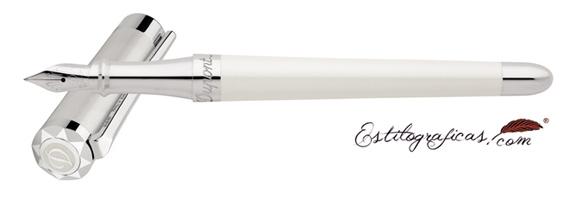 Talla brillante de la estilográfica Liberté blanca de Dupont
