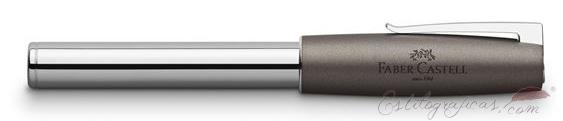 Estilográfica Faber-Castell Loom Metallic Grey cerrada