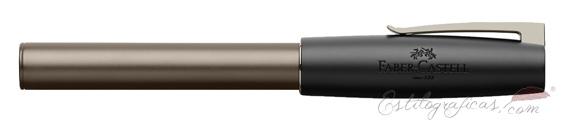Pluma estilográfica Faber-Castell Loom Gunmetal Mate 149260 cerrada