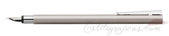 Pluma estilográfica Faber-Castell Neo Slim Acero Satinado 342100