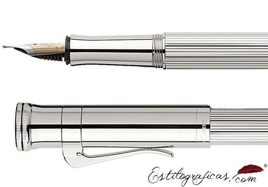 Doble ribete de estilográfica Graf von Faber-Castell Classic Plata de Ley