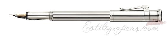 Pluma Estilográfica Graf von Faber-Castell Clásica Plata de Ley