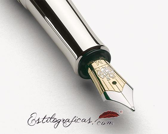 Plumín de pluma estilográfica Graf von Faber-Castell Classic platinum