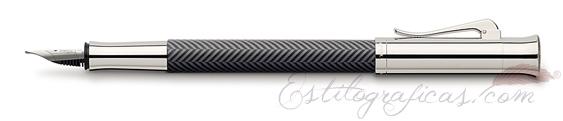 Pluma Estilográfica Graf von Faber-Castell Guilloche Ciselé Gris Antracita 146700