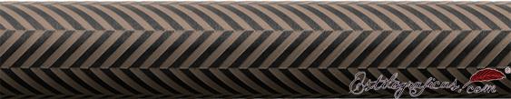 Detalle de grabado de portaminas Guilloche Ciselé marrón